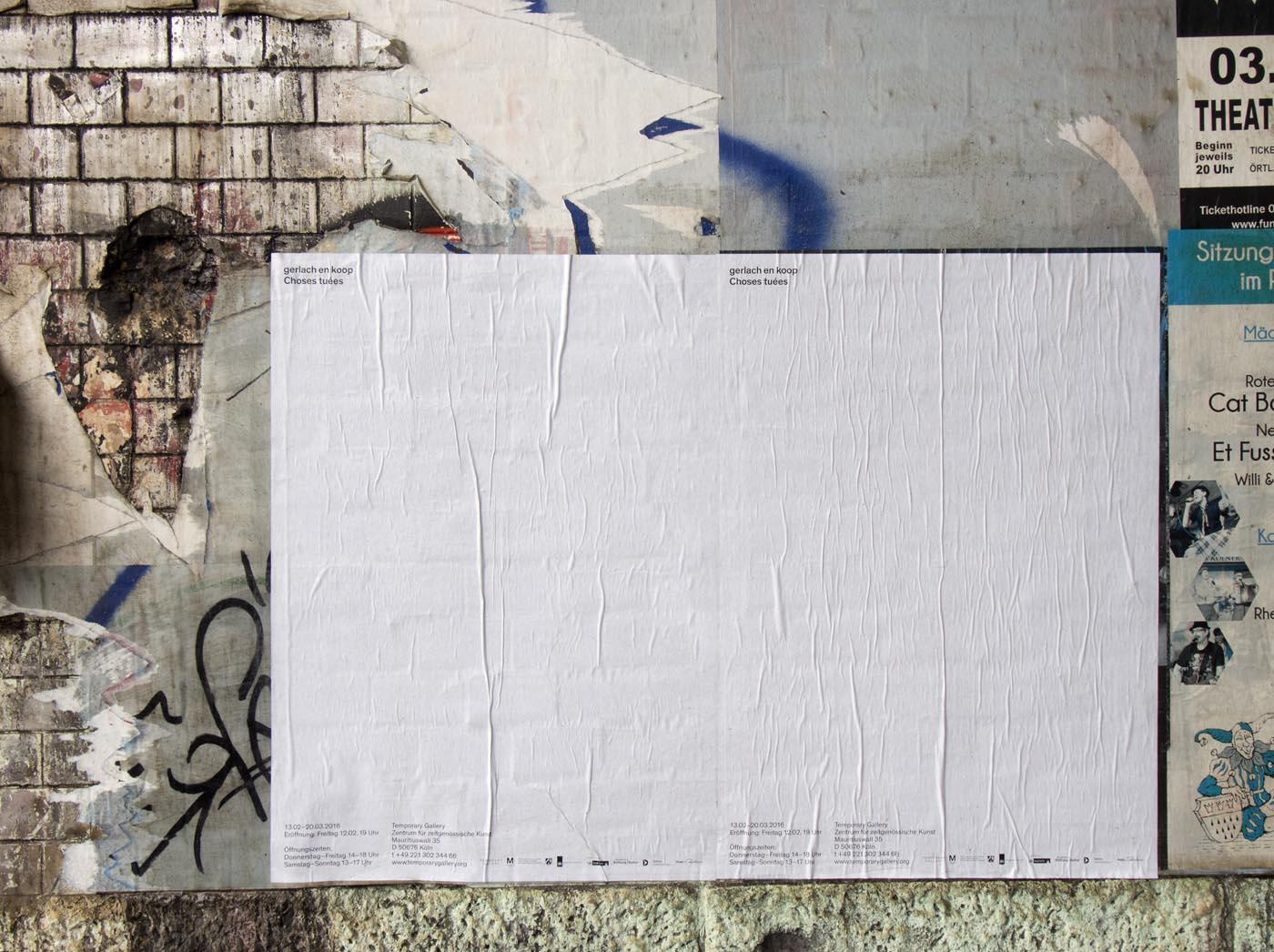 <p><em>Untitled (Black)</em>, 2016, exhibition poster, A1<br />photo: Hartwig Schwarz</p>